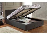 Black Ottoman Storage Double Bed