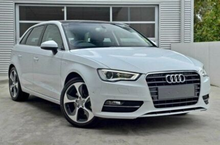 2015 Audi A3 8V MY15 Ambition S tronic Glacier White 7 Speed Sports Automatic Dual Clutch Sedan Berwick Casey Area Preview