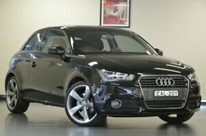 2013 Audi A1 8X MY13 Ambition S Tronic Brilliant Black Semi Auto Hatchback Chatswood Willoughby Area Preview