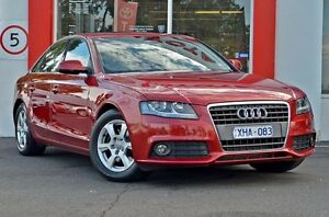 2009 Audi A4 B8 8K Red 6 Speed Manual Sedan Upper Ferntree Gully Knox Area Preview