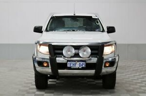 2012 Ford Ranger PX XL 3.2 (4x4) White 6 Speed Manual Cab Chassis