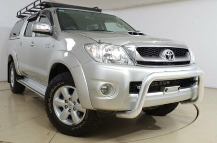 2010 Toyota Hilux KUN26R MY10 SR5 Silver 4 Speed Automatic Utility Gepps Cross Port Adelaide Area Preview