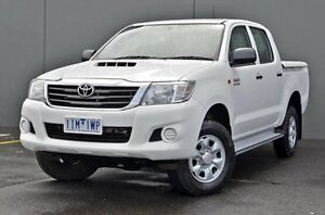 2012 Toyota Hilux White Automatic Utility Cranbourne Casey Area Preview