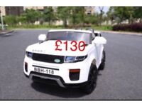 RANGE ROVER EVOQUE STYLE KIDS RIDE ON CAR 12V REMOTE CONTROL & MUSIC ONLY £130