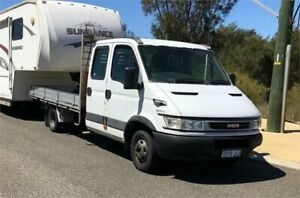 2005 Iveco Daily 40C14 LWB White 6 Speed Manual Dual Cab Chassis Cannington Canning Area Preview