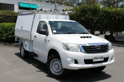 2013 Toyota Hilux KUN26R MY14 SR White 5 Speed Manual Cab Chassis Acacia Ridge Brisbane South West Preview