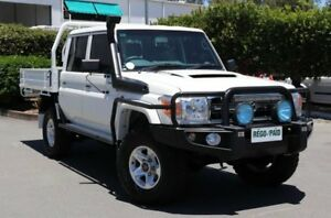 2015 Toyota Landcruiser VDJ79R GXL Double Cab Vanilla 5 Speed Manual Cab Chassis