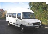 White Minibus with 17 seats for sale