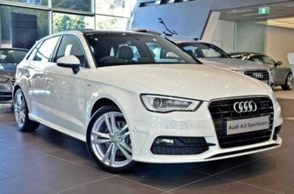 2015 Audi A3 8V MY15 Ambition S tronic Amalfi White 7 Speed Sports Automatic Dual Clutch Sedan Berwick Casey Area Preview