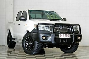 2013 Toyota Hilux KUN26R MY14 SR (4x4) White 5 Speed Manual Dual C/Chas Burleigh Heads Gold Coast South Preview
