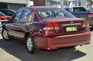 2005 Honda Civic 7th Gen MY2004 GLi Black 4 Speed Automatic Sedan North Gosford Gosford Area Preview