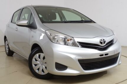 2013 Toyota Yaris NCP130R YR Silver 4 Speed Automatic Hatchback Gepps Cross Port Adelaide Area Preview