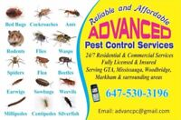 ADVANCED PEST CONTROL SERVICES, ONLY IN $125 with 1YEAR WARRANTY