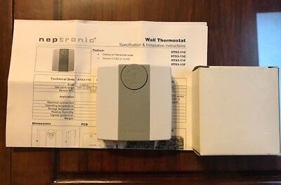 Neptronic Wall Thermostat Sts3-11c Sts3-13c Sts3-11f Sts3-13f New