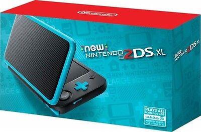 New Nintendo 2Ds Xl   Black   Turquoise Console   New   Sealed   Fast Shipping