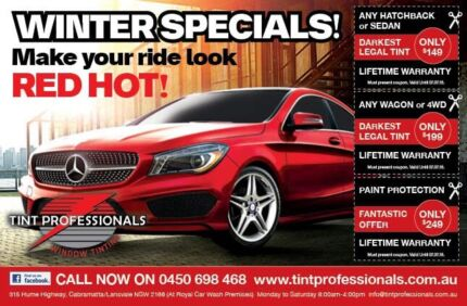 Tint Professionals $149 any hatchback or sedan Lansvale Liverpool Area Preview