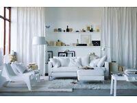 Ikea Sofa - Karlstad White (with footstool)
