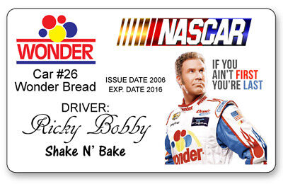RICKY BOBBY TALLADEGA NIGHTS NAME BADGE PROP HALLOWEEN COSPLAY PIN BACK
