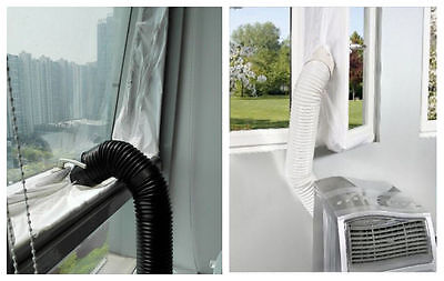 Air Lock Window Seal Living Room 400cm Mobile Portable Air Conditioner Home UK