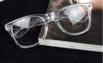 Transparent Clear Eyeglasses Frames Men Eyewear Women RX Spectacles (Clear Spectacle Frames)