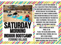 Saturday BOOTCAMP indoor class in FERRING, Goring Worthing circuits early morning exercise classes