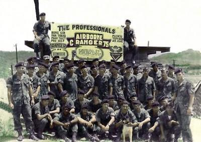 Vietnam War U.S. Army 75th Rangers C Company 1970 Old Grainy 8.5x11 Photo
