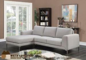 2-PIECE REVERSIBLE SECTIONAL SOFA CHAISE SET WITH 2 ACCENT PILLOWS(ID 137)