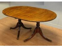 Beautiful real solid wood oval dining table and chairs