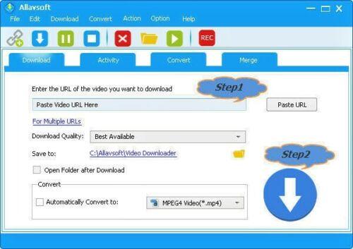Allavsoft Youtube Facebook Music Video Downloader Converter - Email Delivery