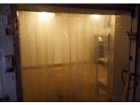 freezer room plastic door curtain