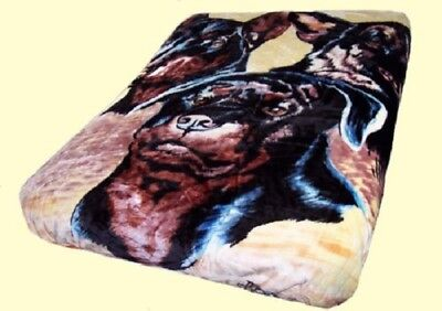Signature Collection Dog Collage German Shepard Soft Plush Blanket Queen Size