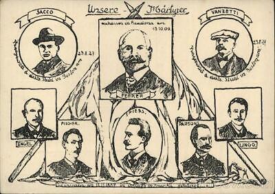 Political Martyrs of Socialism Postcard Vintage Post Card