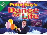 Peter Kay's Dance For Life - Manchester x 4 Tickets. Friday 30th March 2018.