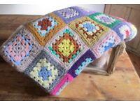 Stunning Retro Vintage Crochet Blanket