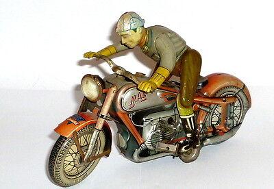Altes Arnold Mac 700 Blechmotorrad Motorrad Blechspielzeug rot motorbike tintoy