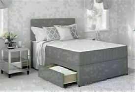 BRAND NEW LUXURY DIVAN BED BASES IN SINGLE, DOUBLE, SMALL DOUBLE, KING SIZE AND MATTRESS OPTIONS