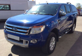 Blue Ford Ranger 2.2TDCi 4x4 Double Cab Limited 2 FROM £62 PER WEEK!