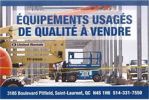 Equipment Construction Usages