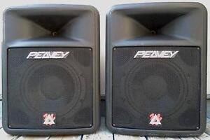 """4 PEAVEY 12"""" & TWO YAMAHA 15"""" PA SPEAKERS - 8 & 16 CH MIXERS *mt"""