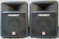 "2 PAIRS of ""PEAVEY"" IMPULSE 200 passive 12"" PA SPEAKERS & MORE"
