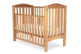 MOTHERCARE TAKELEY COT WITH MATTRESS AND TEETHING RAILS