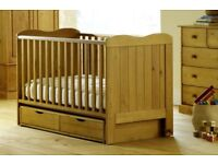 Saplings Glideaway Cot Bed - Excellent condition