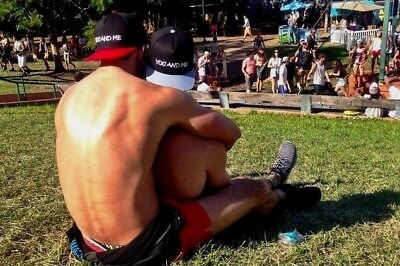 Shirtless Male Muscular Beefcake Jock Hunks Park Cuddle Athletic PHOTO 4X6 F1327