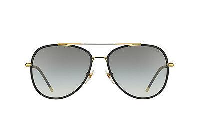 7c3e85616a90 NWT Burberry Sunglasses BE 3078J 114511 Gold Matte Black Grey Gradient 57  mm NIB
