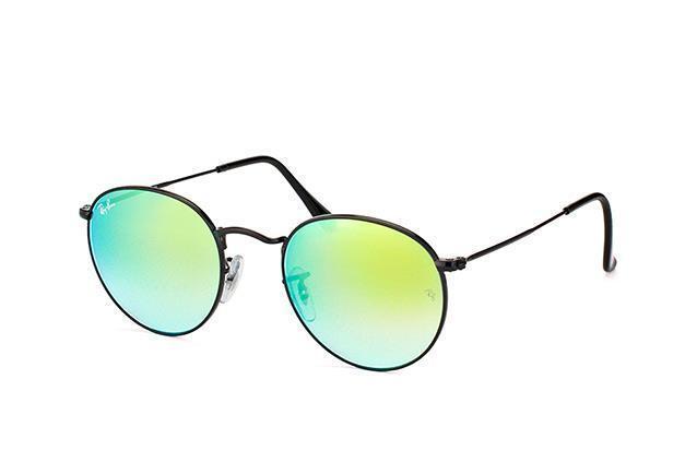 Authentic Ray-Ban Sunglasses ROUND RB 3447 002/4J 50mm Mirror & Gradient Black