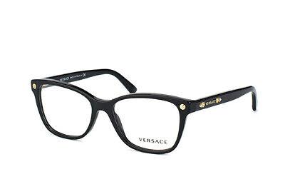 New Versace VE 3190 GB1 Black Studded RX Prescription Eyeglasses 52 mm (Versace Wayfarer Glasses)
