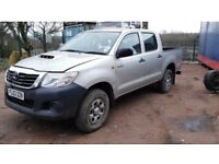 Toyota hilux 2013 62 invincible damaged not recorded with parts to repair ideal export