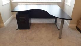 Large home office desk and drawers
