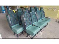 9 SINGLE MINIBUS SEATS GREEN £40 EACH