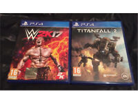 PS4 Wwe17 & Titanfall 2 Games